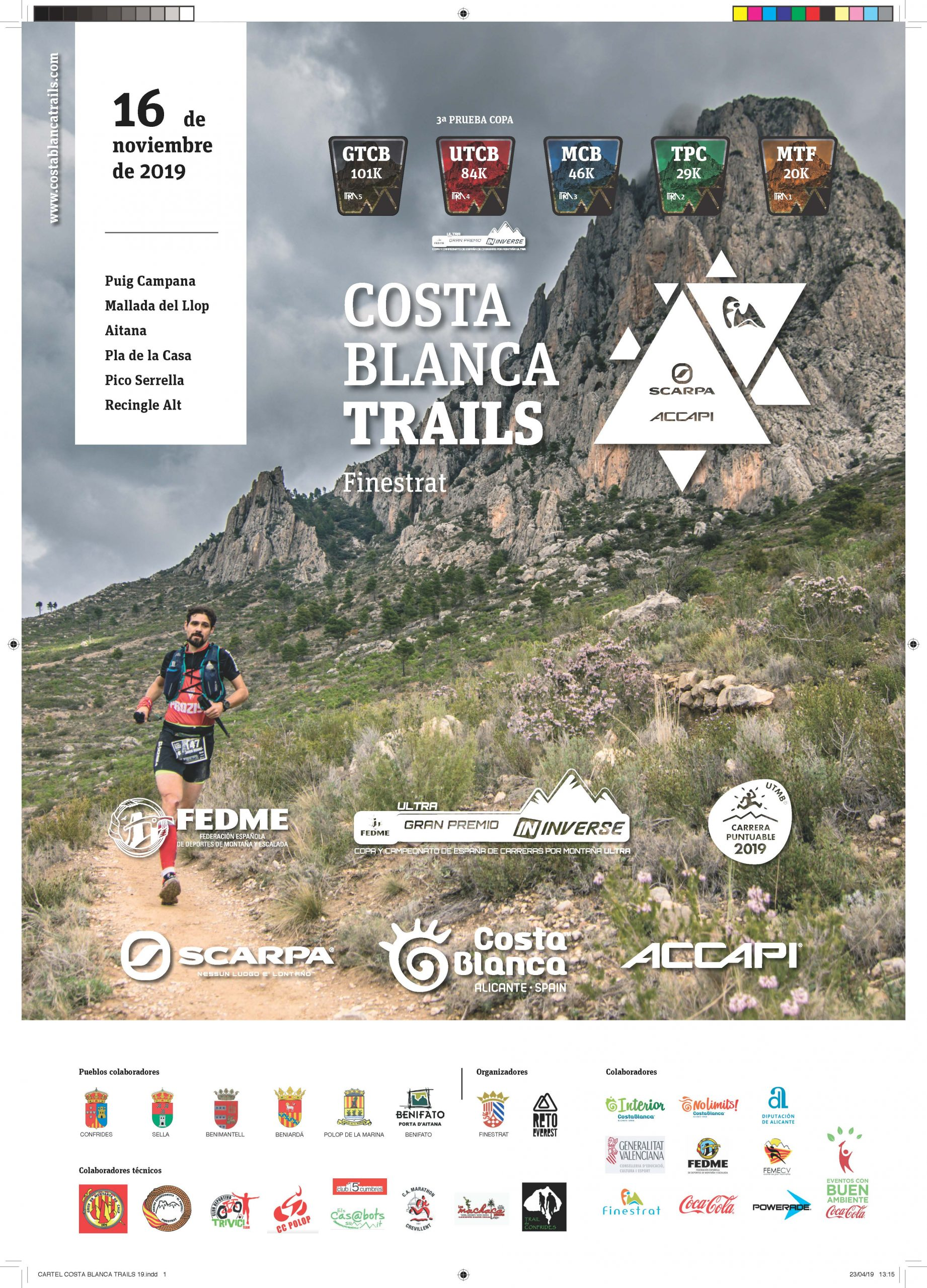 Costa Blanca Trails (Finestrat, Alicante) - 16/11/2019