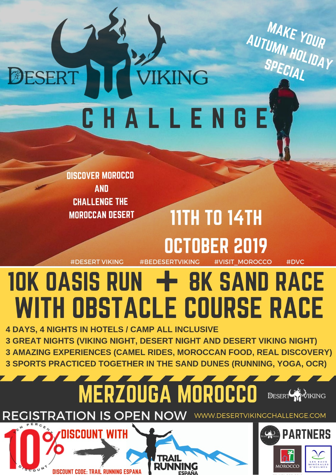 II Desert Viking Challlenge en Merzouga (Marruecos) - 11 al 14/10/2019